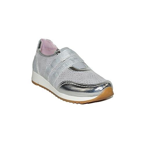 PRIMAR SHOES - Zapatilla Tirantes Rosa PS135 Zapatillas Elegantes Casuales Urbanas Verano Moda 2018 Mujer Piel Transpirable Plata Oro: Amazon.es: Zapatos y ...