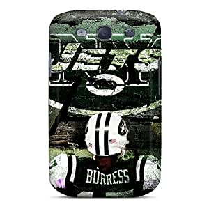Best Cell-phone Hard Cover For Samsung Galaxy S3 (wIb11863lZAN) Support Personal Customs Nice New York Jets Pattern