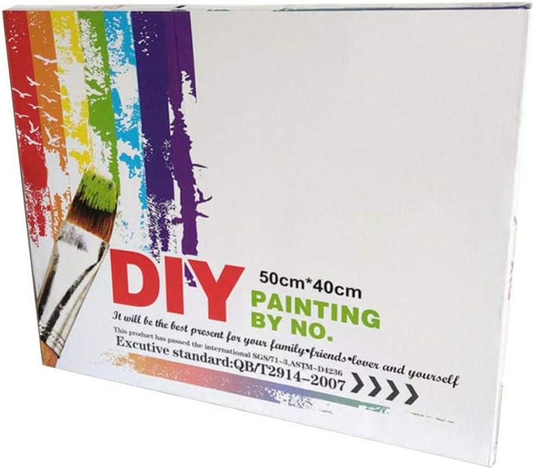 HUA5D Diy Peinture Par Num/éros Adultes Acrylique Avec Cadre /Église Fait /À La Main Peinture Toile Cadeaux De Vacances Pour Les Enfants 40X50Cm
