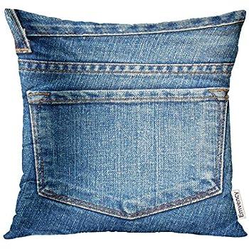 Authentic Denim 20 Inch Square Pillow Slip indigo denim