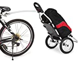 Sepnine Bike Commuter Cargo Trailer Alum frame with bag and handle 8007T (trailer with red/black bag)