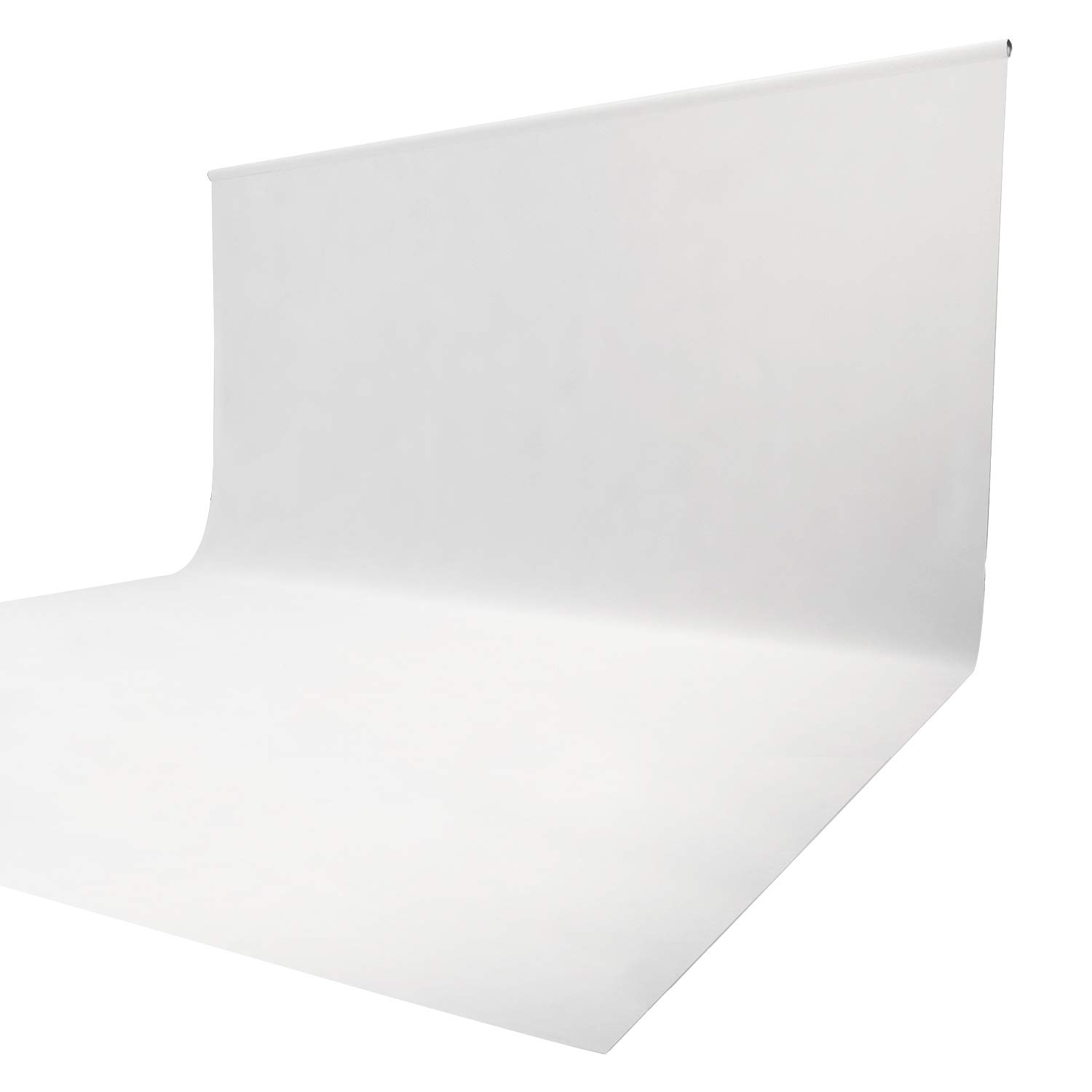Issuntex 10X20 ft White Background Muslin Backdrop,Photo Studio,Collapsible High Density Screen for Video Photography and Television