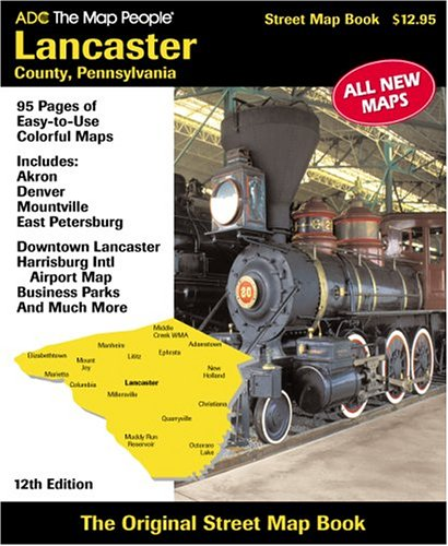 ADC Lancaster County, PA: Street Map Book ()