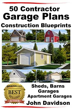 Amazon.com: 50 Contractor Garage Plans Construction Blueprints ...