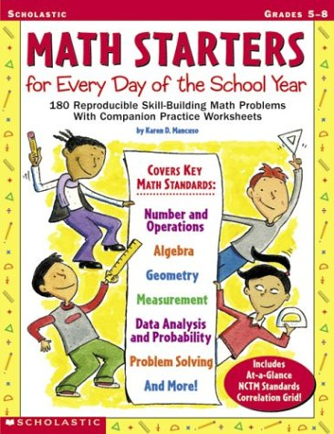Counting Number worksheets grade 7 math probability worksheets : Amazon.com: Math Starters For Every Day Of The School Year ...