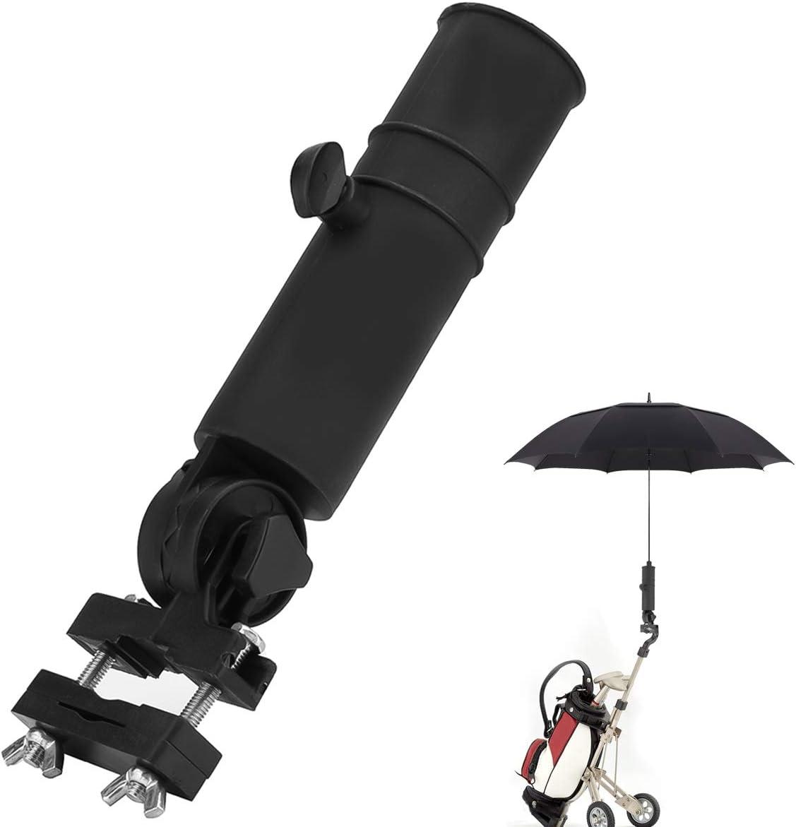 NON Paragüero Universal para Carrito de Golf Soporte para Sombrilla para Silla de Ruedas/Cochecito/Andador/Parasol/Bicicleta/Buggy/Pesca/Andador