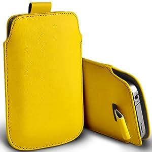 ONX3 HTC Pure Yellow PU Tire Tab Case bolsa protectora