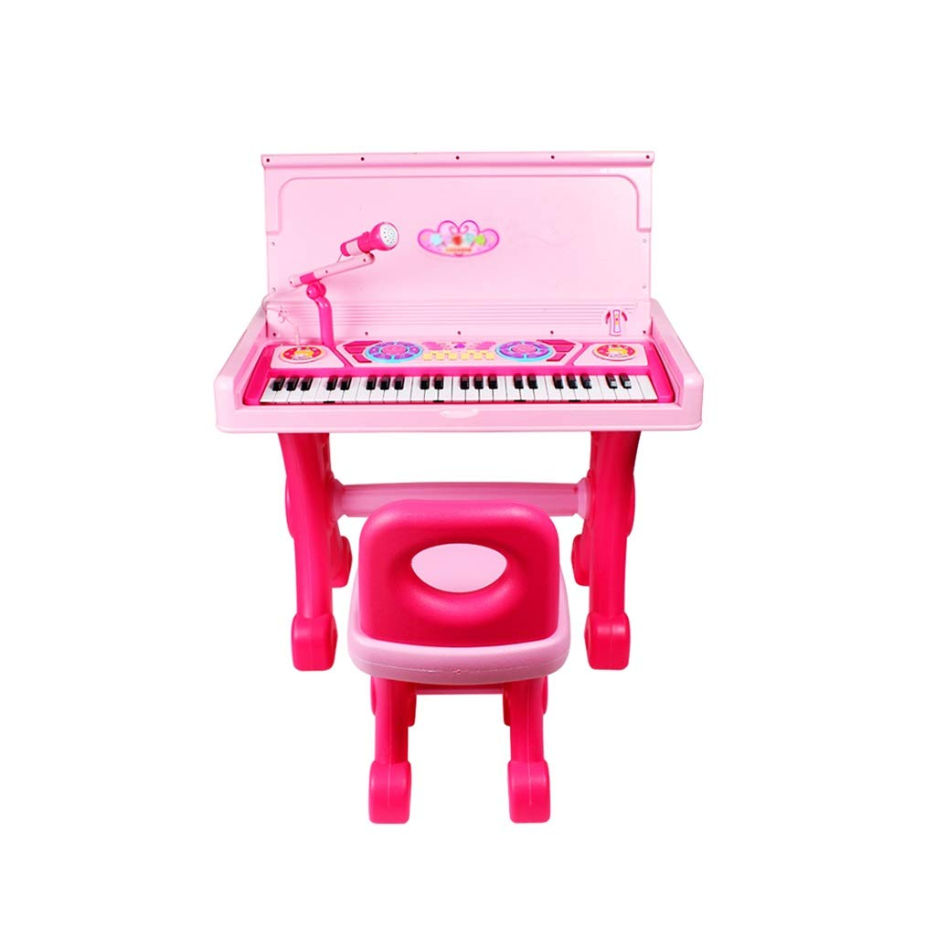 KINGLING-piano Children's Piano Desk Multi-Function Electronic Piano Beginner Baby Toy Electronic Piano Girl 1-3-6 Years Old (Color : Pink)