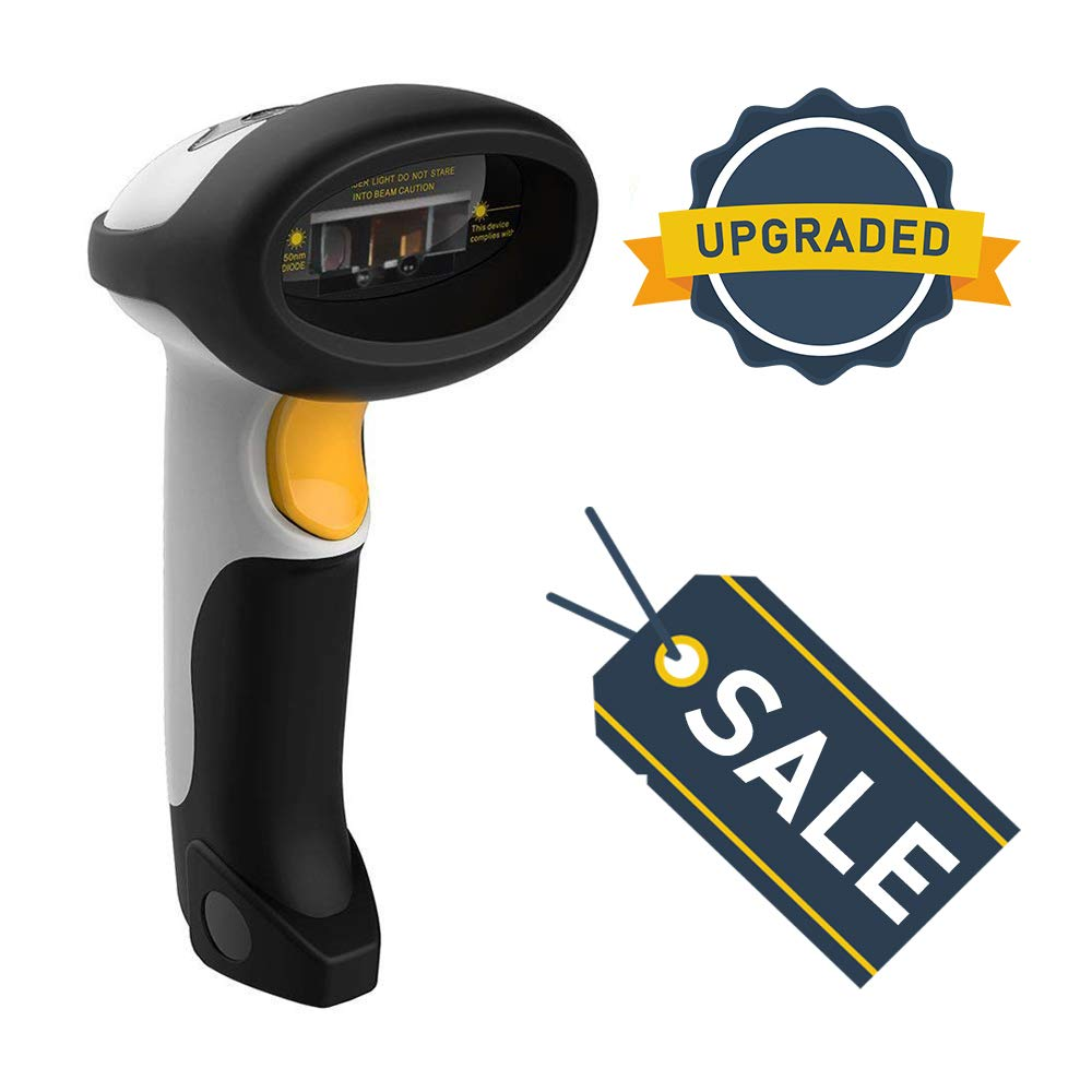 Best Bluetooth Barcode Scanner Wireless 1D 2D 2 in 1 2.4G UPC Wireless USB 2.0 Wired 2018 FBA White QR Bar Code Reader for iPhone iPad Android Tablet PC Mac OS X Android Windows 10 and iOS 11