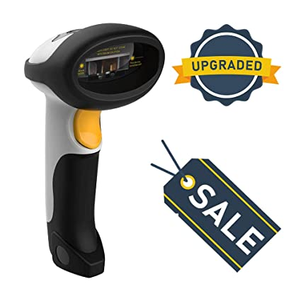 Best Bluetooth Barcode Scanner Wireless 1D 2 4G UPC Wireless & USB 2 0  Wired - 2018 FBA White QR Bar Code Reader for iPhone iPad Android Tablet PC  Mac