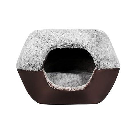 Mzdpp Cat Pet Igloo Cueva Perro Cama Nido Confort Colchón Dos Usos 45X40X35Cm