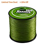 Handing 8 Strand Braided Fishing Line 500m/547yd 18-96lb Green for Surf Fishing, Bass Fishing Low Memory Braided Line Fishing Tackle