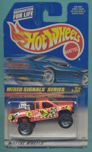 Mattel Hot Wheels 1998 1:64 Scale Mixed Signals Series Orange Nissan Truck Die Cast Car 3/4 ()