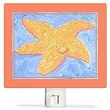 Oopsy Daisy PE3034 Orange Starfish Night