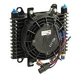 B&M 70298 Hi-Tek SuperCooler Oil Cooler with Fan