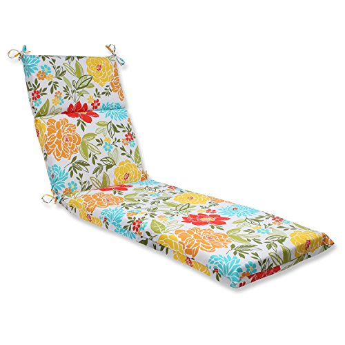 - Pillow Perfect Outdoor Spring Bling Chaise Lounge Cushion, Multicolored