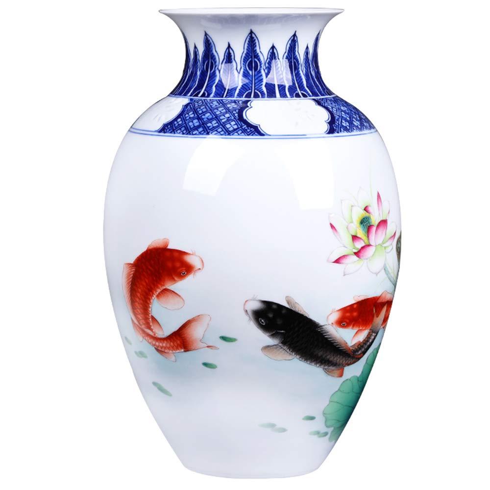 手塗りのパステルの花瓶ホームリビングルームのセラミックの花瓶手塗りのパステルの花瓶薄い磁器の透明な花瓶の手作りセラミック花瓶 B07MM3T217