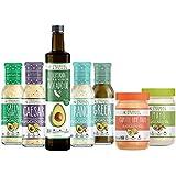 Primal Kitchen - Keto Kit   Chipotle Lime Mayo, Avocado Oil Mayonnaise, Extra Virgin Avocado Oil, Greek Vinaigrette and Marinade, Ranch, Green Goddess, Caesar and Ranch Dressing