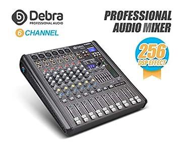 Amazon.com: Debra Audio Profesional 6/8/12 Canal con 256 ...