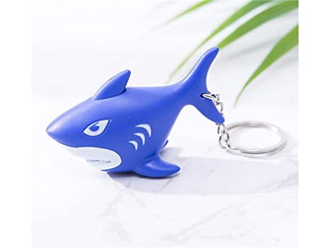 Rosetreee Monedero Cute Cartoon Shark Keyring con Voz y ...