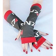 Mass Effect Gamer Arm Warmers Fingerless Gloves