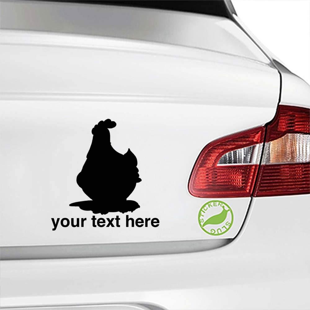 Amazon com chicken custom decal sticker yellow 5 inch