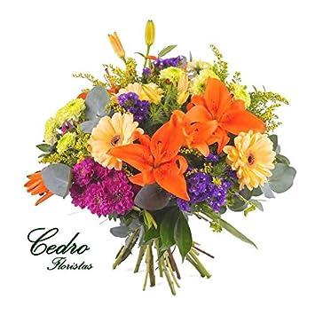 Ramo de flores naturales Primavera - Servicio a domicilio GRATIS en 24 HORAS: Amazon.es: Jardín