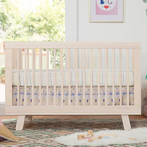 51W9VBG7dUL - Babyletto Hudson 3-in-1 Convertible Crib With Toddler Bed Conversion Kit In Washed Natural, Greenguard Gold Certified
