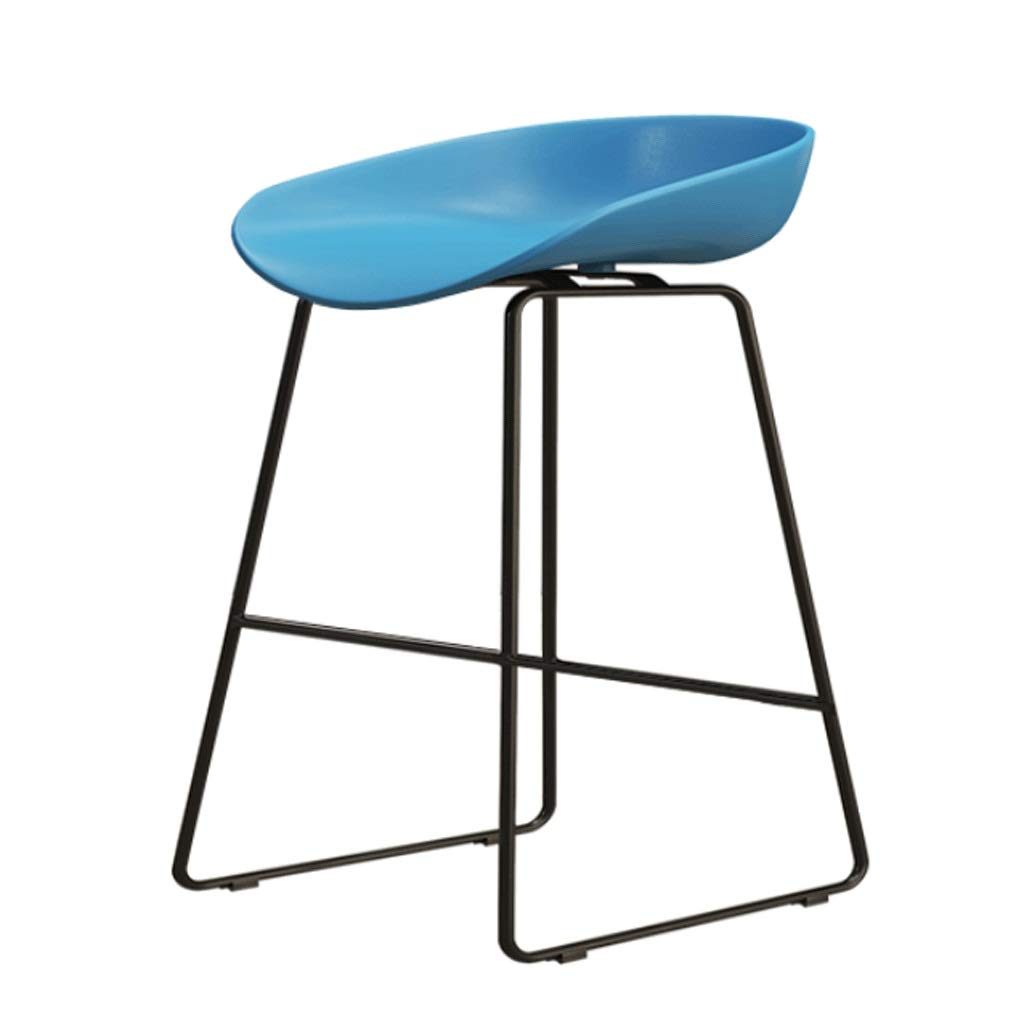 A Sitting height 45CM Iron High Stool Bar Chair Restaurant Counter Chair Cafe Metal Chair Modern Minimalist Home backrest high Chair (color   C, Size   Sitting Height 45CM)