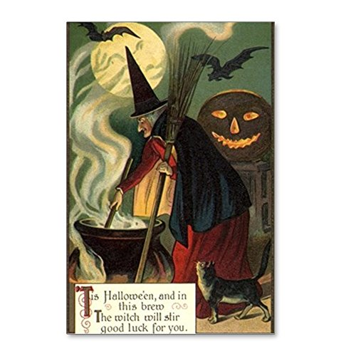 CafePress - Vintage Halloween Witch W - Postcards (Package of 8), 6