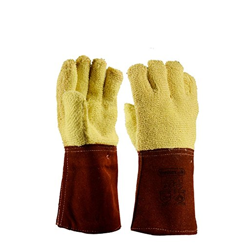 Thickening factory operations dedicated anti-high temperature anti-cutting insulation anti-tear protection labor insurance gloves by LIXIANG