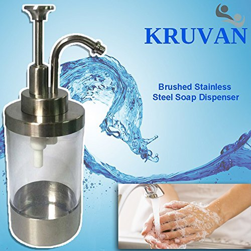 Soap Dispenser For Liquid Soaps and Lotions - Single Pump To Keep Your Hands Clean So Germs Don't Spread - Refillable, Stylish - Any Liquid Soap or Lotion - Bathroom Decoration Or Kitchen Style - Prime Quality Stainless Steel - Special Non-Slip Pad at the Bottom an Extra Bonus