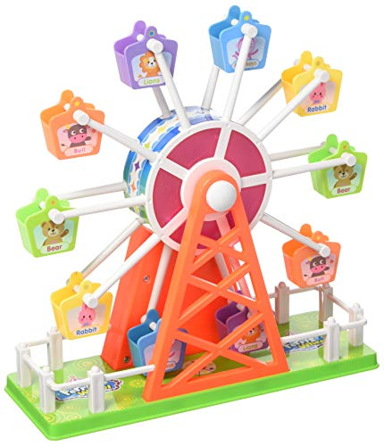 PowerTRC Merry Go Round Electronic Ferris Wheel Toy with Music and Lights