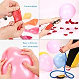 Premium 100 Balloons, Latex Party Helium Colored