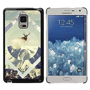 EJOY---Cubierta de la caja de protección la piel dura para el / Samsung Galaxy Mega 5.8 / --Geometría de la nieve de los ciervos
