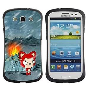 Pulsar iFace Series Tpu silicona Carcasa Funda Case para SAMSUNG Galaxy S3 III / i9300 / i747 , Cute Winter Cat