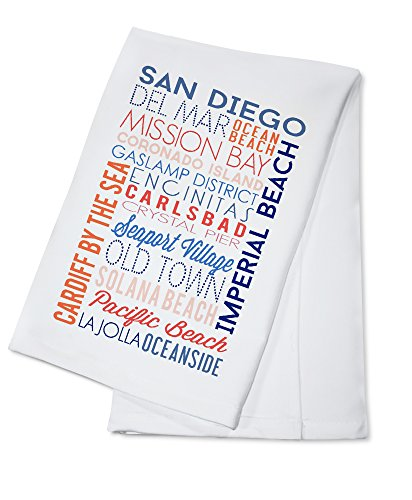 - San Diego, California - Typography (100% Cotton Kitchen Towel)