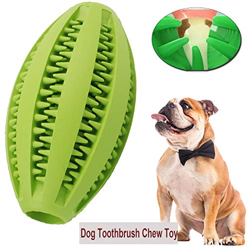 Dog Toothbrush Toy Puppy Dental Care Brushing Stick Dog Chew Tooth Cleaner Effective Doggy Teeth Cleaning Massager Natural Rubber Bite Resistant Chew Toys for Dogs Pets Oral Care (Green)