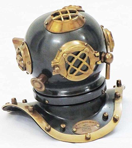 Vintage Armour Store US Navy Deep See Divers Helmet Beautiful Antique Decorative Diving Helmet Desk Nautical Replica (Nautical Diving Helmet)
