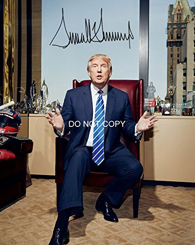 Donald Trump Business Mogul Reprint Signed Autographed...