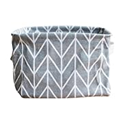 Storage Box ,IEason Clearance Sale! Foldable Colors Storage Bin Closet Toy Box Container Organizer Fabric Basket (Gray)