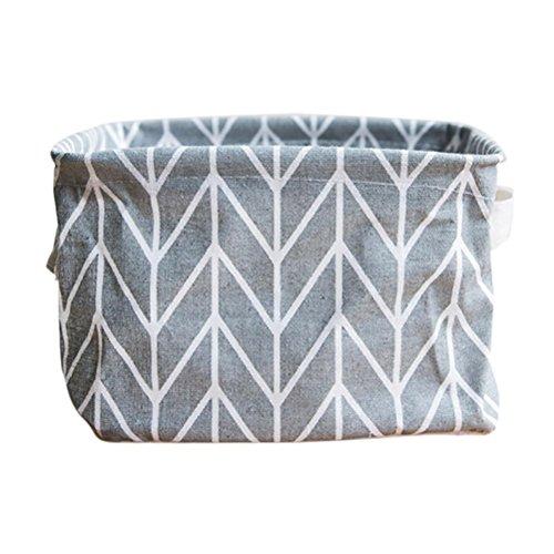 Storage Box ,IEason Clearance Sale! Foldable Colors Storage Bin Closet Toy Box Container Organizer Fabric Basket (Gray)