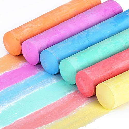 Sidewalk Chalk Bulk, Jumbo Chalk, Chalk for Outside for Kids 35 Pieces Washable Tapered Chalks for Party Favors and Gifts