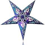 Happy Sales HSSL-FSBLUB Frozen Sky Paper Star Lantern Blue,