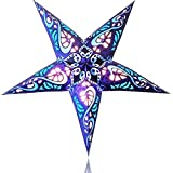 Happy Sales HSSL-FSBLUB Frozen Sky Paper Star Lantern Blue,