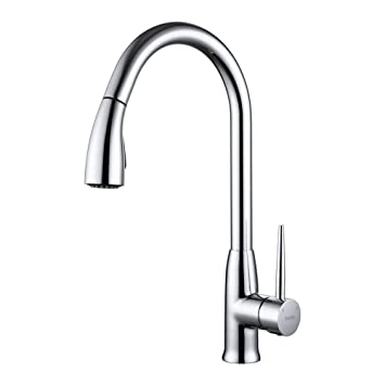 SonTiy Lead Free Kitchen Faucet With Pull Down Sprayer Best Antique - Antique brass kitchen faucet pull out spray