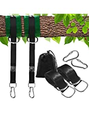 Bestie Online Tree Swing Hanging Straps Kit for Hammocks and Tree Swings, 150cm Long, Supports 500kg Person