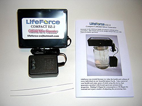 Compact EZ-2 Barebones Colloidal Silver Generator Package w/14 Gauge Wires by LifeForce Devices