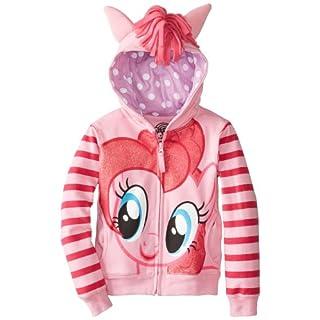 My Little Pony Little Girls Zip-up Hoodie, Pinkie Pie, Small (4)