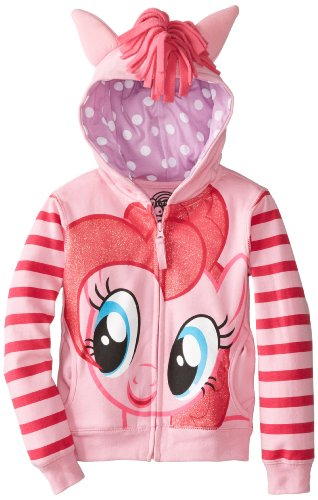 My Little Pony Big Girls' Pinky Pie Hoodie,Pink/Multi,7/Small -